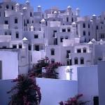 Le caratteristiche abitazioni di Bodrum in calce bianca