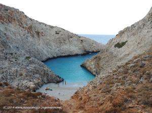 Creta bellissima caletta vista dall'alto
