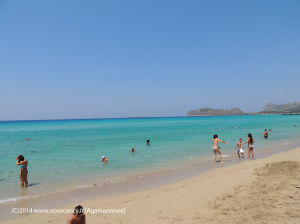 Creta spiaggia e mare azzurro