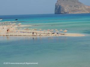 Creta spiaggia e mare blu
